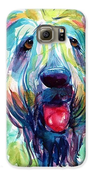 Colorful Galaxy S6 Case - Fluffy Wheaten Terrier Portrait By by Svetlana Novikova