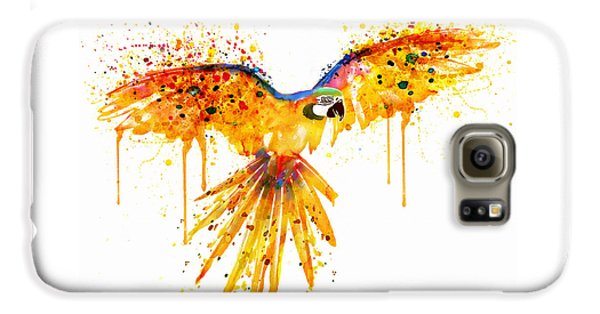 Flying Parrot Watercolor Galaxy S6 Case