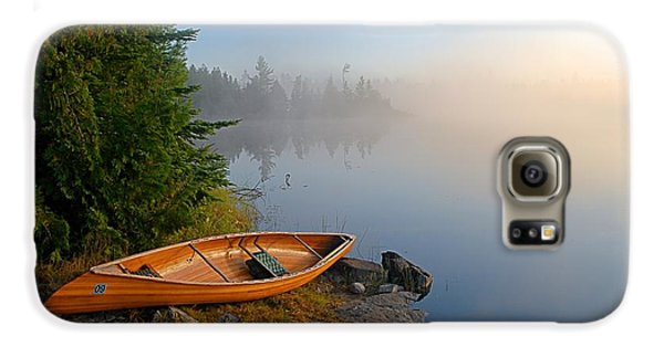 Landscapes Galaxy S6 Case - Foggy Morning On Spice Lake by Larry Ricker