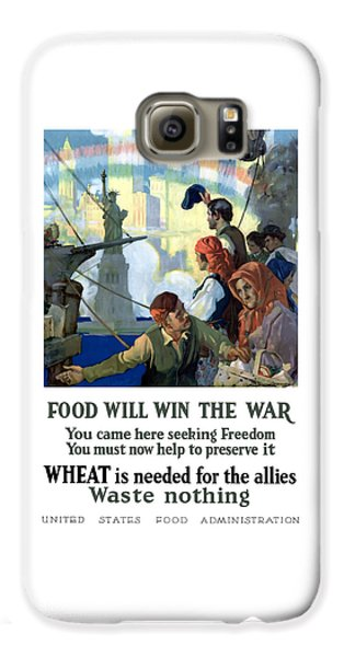 Statue Of Liberty Galaxy S6 Case - Food Will Win The War by War Is Hell Store