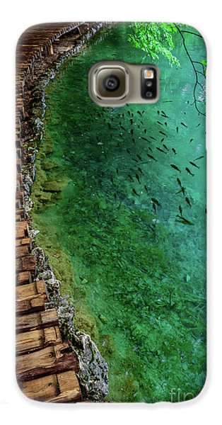 Footpaths And Fish - Plitvice Lakes National Park, Croatia Galaxy S6 Case
