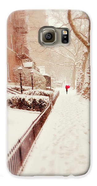 Galaxy S6 Case featuring the photograph The Red Umbrella by Jessica Jenney