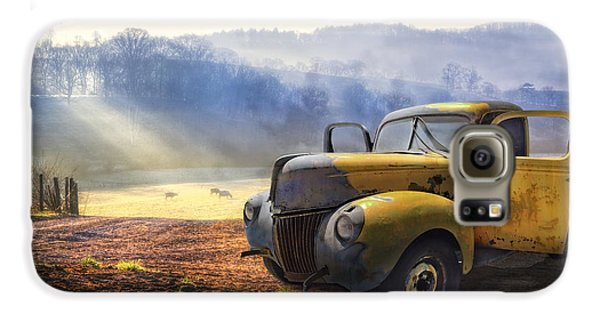 Landscapes Galaxy S6 Case - Ford In The Fog by Debra and Dave Vanderlaan
