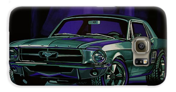Automobile Galaxy S6 Case - Ford Mustang 1967 Painting by Paul Meijering
