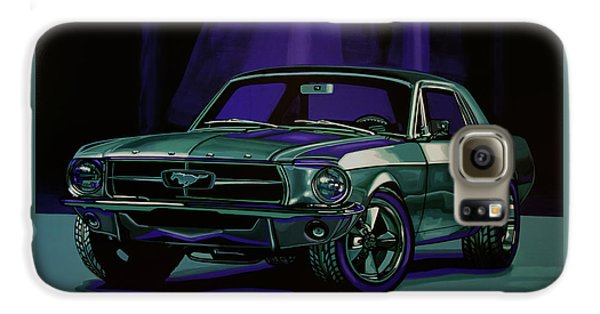 Falcon Galaxy S6 Case - Ford Mustang 1967 Painting by Paul Meijering