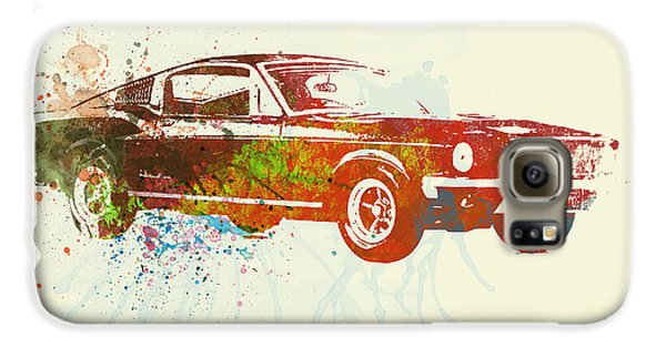 Automobile Galaxy S6 Case - Ford Mustang Watercolor by Naxart Studio