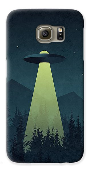 Outer Space Galaxy S6 Case - Forest Ufo by Ivan Krpan
