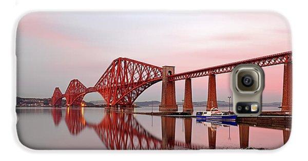 Forth Railway Bridge Sunset Galaxy S6 Case by Grant Glendinning