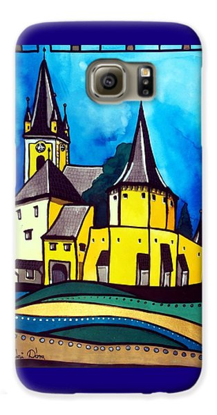 Fortified Medieval Church In Transylvania By Dora Hathazi Mendes Galaxy S6 Case by Dora Hathazi Mendes