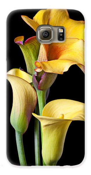Four Calla Lilies Galaxy S6 Case by Garry Gay