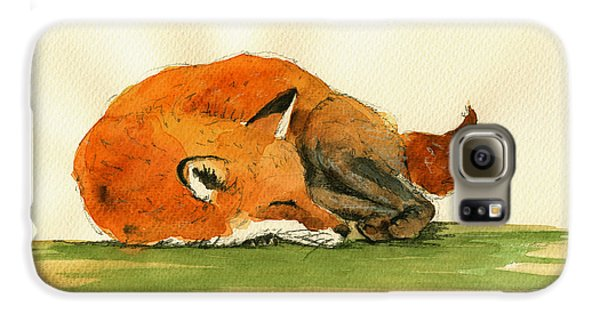 Fox Sleeping Painting Galaxy S6 Case
