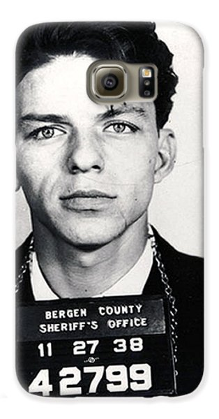 Frank Sinatra Mug Shot Vertical Galaxy S6 Case by Tony Rubino