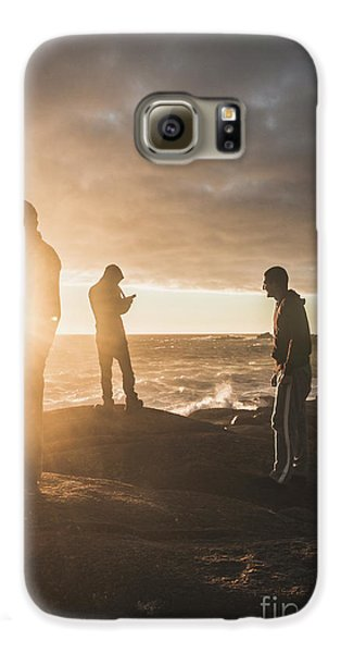Galaxy S6 Case featuring the photograph Friends On Sunset by Jorgo Photography - Wall Art Gallery