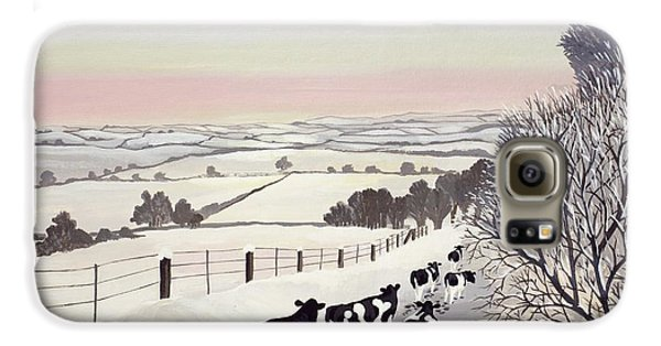 Cow Galaxy S6 Case - Friesians In Winter by Maggie Rowe
