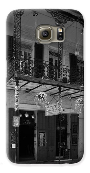 Fritzel's European Jazz Pub In Black And White Galaxy S6 Case by Chrystal Mimbs