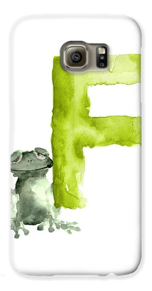 Frog Watercolor Alphabet Painting Galaxy S6 Case by Joanna Szmerdt