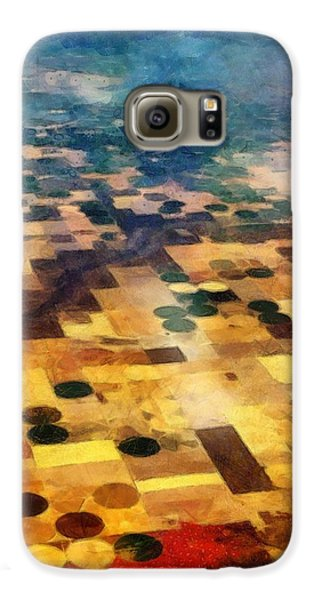 Galaxy S6 Case featuring the digital art From Above by Michelle Calkins