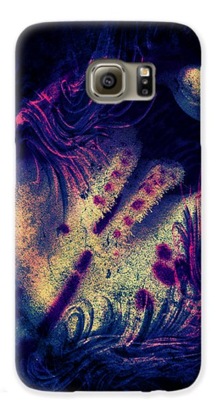 Galaxy S6 Case - Frozen Violet by Orphelia Aristal