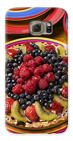 Fruit Tart Pie Galaxy S6 Case by Garry Gay