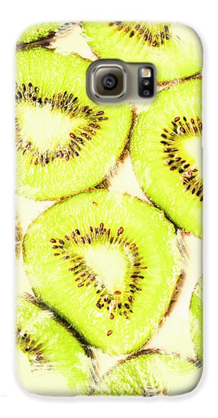 Full Frame Shot Of Fresh Kiwi Slices With Seeds Galaxy S6 Case