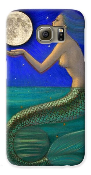Full Moon Mermaid Galaxy S6 Case by Sue Halstenberg