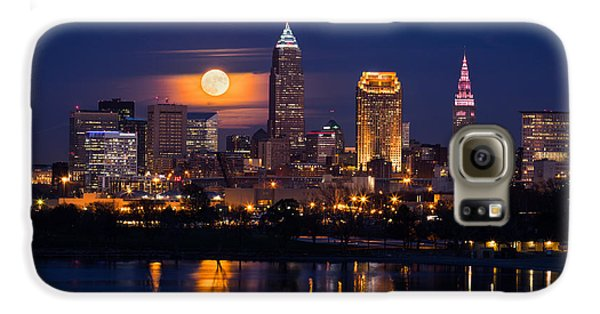 Full Moonrise Over Cleveland Galaxy S6 Case