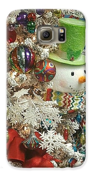 Fun Snowman Holiday Greeting Galaxy S6 Case