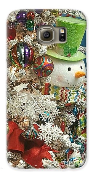 Fun Snowman Holiday Greeting Galaxy S6 Case