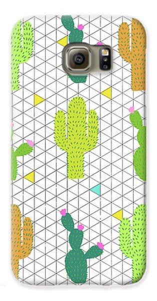 Funky Cactus Galaxy S6 Case by Nicole Wilson