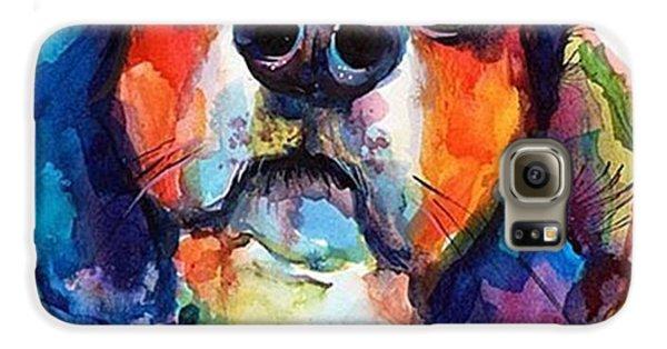 Galaxy S6 Case - Funny Beagle Watercolor Portrait By by Svetlana Novikova