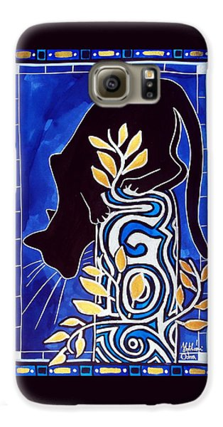 G Is For Gato - Cat Art With Letter G By Dora Hathazi Mendes Galaxy S6 Case by Dora Hathazi Mendes