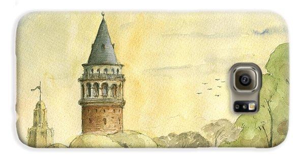 Turkey Galaxy S6 Case - Galata Tower Istanbul by Juan Bosco