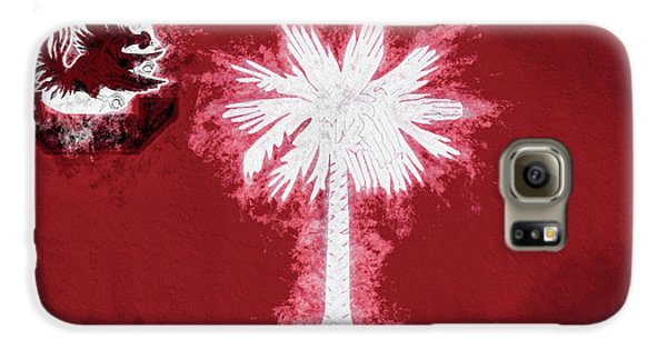 Galaxy S6 Case featuring the digital art Gamecocks South Carolina State Flag by JC Findley