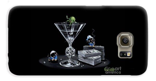 Martini Galaxy S6 Case - Gangsta Martini Livin' Large by Michael Godard