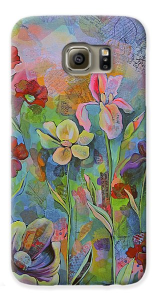 Garden Of Intention - Triptych Center Panel Galaxy S6 Case by Shadia Derbyshire