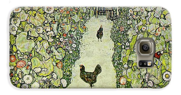 Chicken Galaxy S6 Case - Garden With Chickens by Gustav Klimt