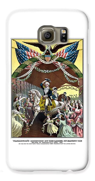 George Washington Galaxy S6 Case - General Washington's Reception At Trenton by War Is Hell Store