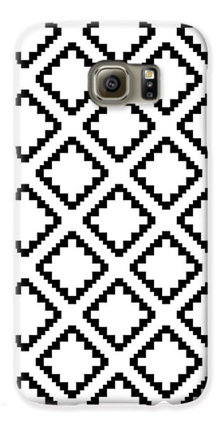 Geometricsquaresdiamondpattern Galaxy S6 Case by Rachel Follett