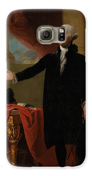 Portraits Galaxy S6 Case - George Washington Lansdowne Portrait by War Is Hell Store