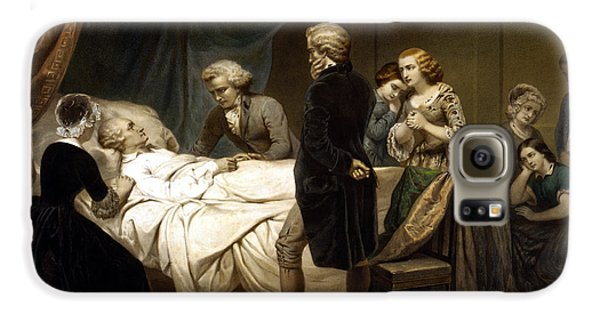 George Washington Galaxy S6 Case - George Washington On His Deathbed by War Is Hell Store