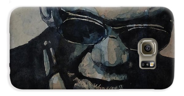 Rock And Roll Galaxy S6 Case - Georgia On My Mind - Ray Charles  by Paul Lovering
