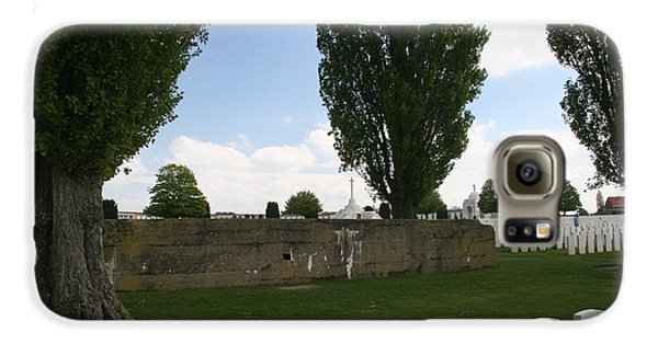 Galaxy S6 Case featuring the photograph German Bunker At Tyne Cot Cemetery by Travel Pics
