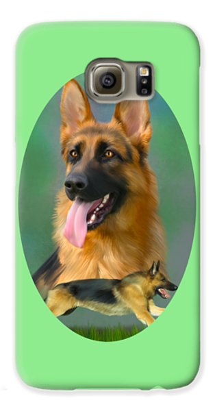 German Shepherd Breed Art Galaxy S6 Case