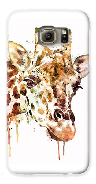 Giraffe Head Galaxy S6 Case by Marian Voicu