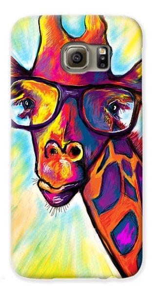 Giraffe Galaxy S6 Case by Julianne Black