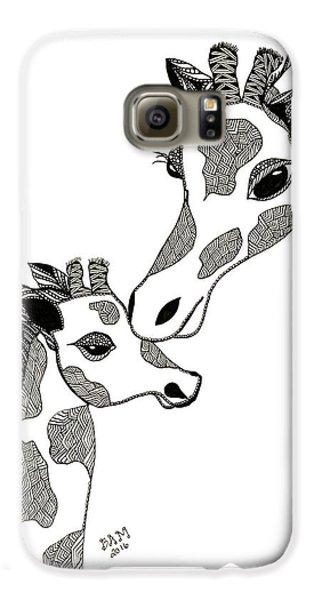Giraffe Mom And Baby Galaxy S6 Case