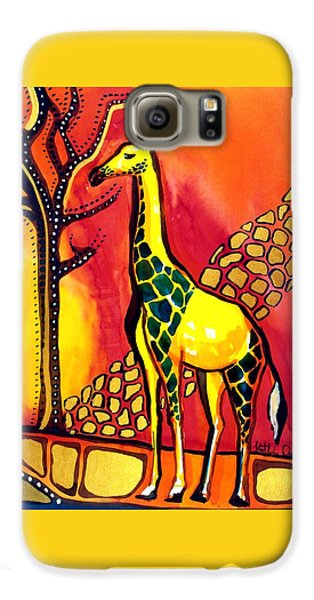 Giraffe With Fire  Galaxy S6 Case by Dora Hathazi Mendes