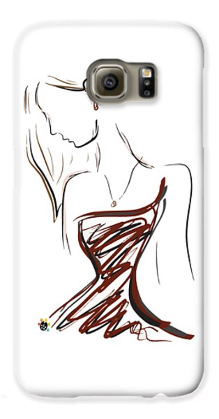 Girl In Red Galaxy S6 Case