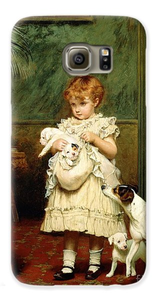 The White House Galaxy S6 Case - Girl With Dogs by Charles Burton Barber