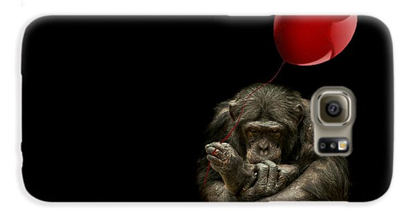 Girl With Red Balloon Galaxy S6 Case by Paul Neville